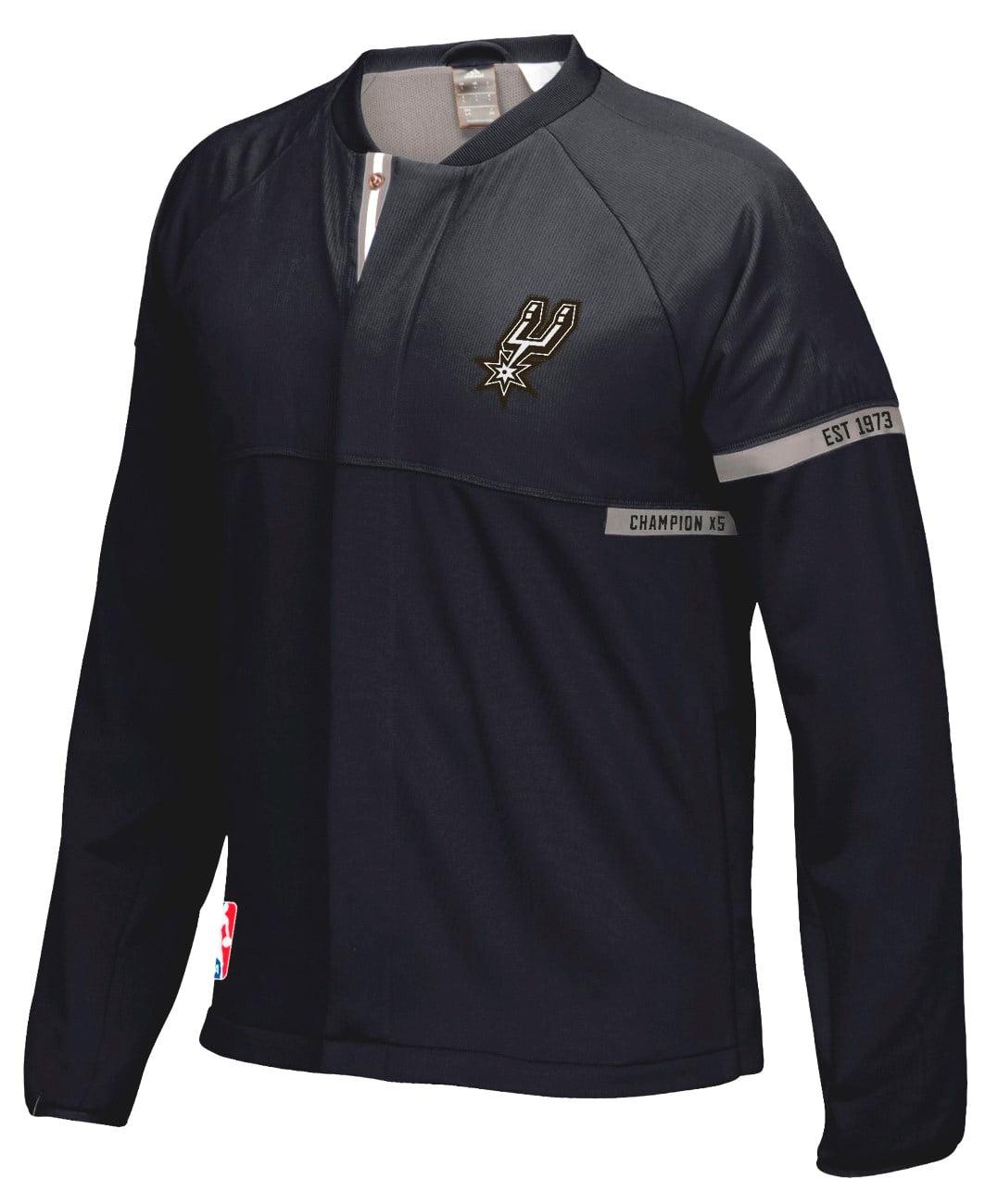 San Antonio Spurs Adidas 2016 NBA Men's On-Court Warm-Up Full Zip Jacket by Adidas