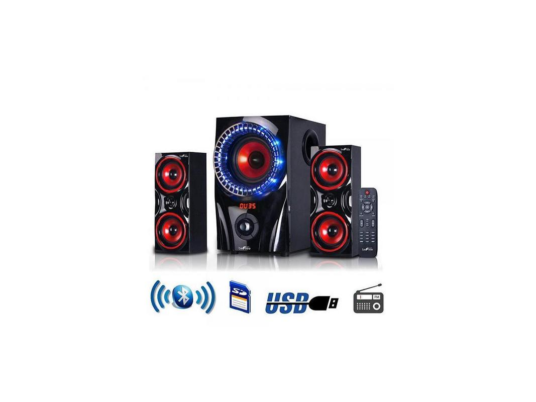JAY SHOP 2.1 Channel Surround Sound Bluetooth Speaker System in Red by JAY SHOP