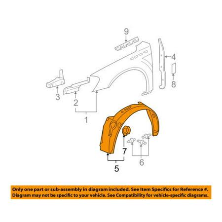 Buick GM OEM 06-11 Lucerne-Front Fender Liner Splash Shield Left 15913335 Buick Lucerne Splash Shield