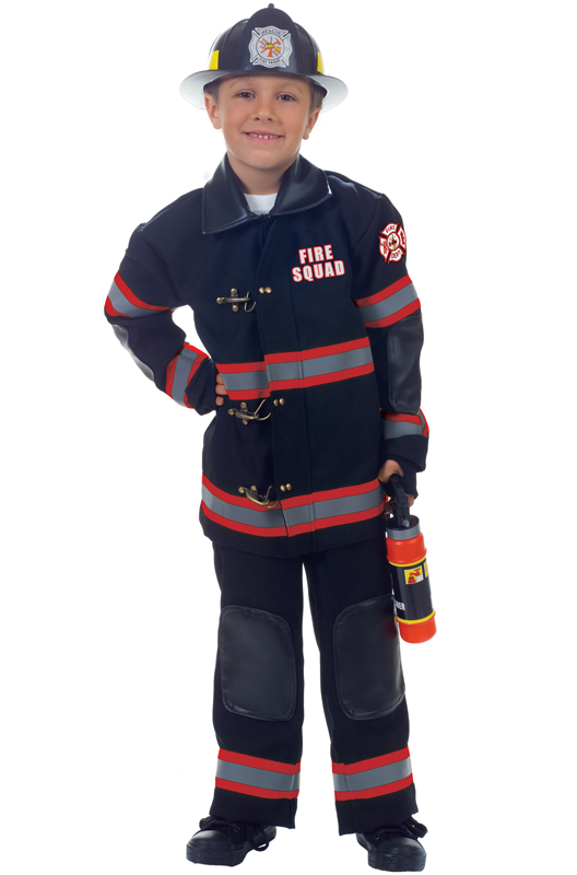 Fire Squad Firefighter Child Costume (Black) by Underwraps