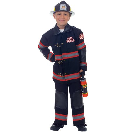 Fire Squad Firefighter Child Costume (Black)](Firefighter Kids)