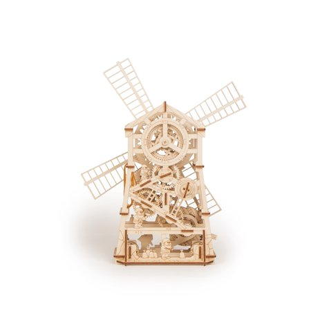 Wood Trick 3D Mechanical Model Mechanical Windmill Wooden Puzzle, Assembly Constructor, Brain Teaser, Best DIY Toy, IQ Game for Teens and (Best Electrolyte For Hho Generator)