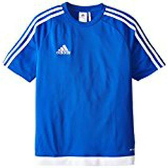 a1d1e6947 Adidas Boys Estro 15 Jersey T-Shirt Bold Blue/White Size Youth - Walmart.com