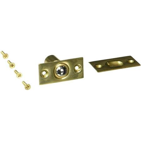 BC218U US3 Ball Catch Square Corners Solid Brass