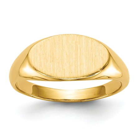 14k Yellow Gold 6mm Men's Signet Ring Size 4 14k Signet Mens Ring