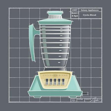Ebern Designs 'Galaxy Blender - Aqua' Graphic Art Print