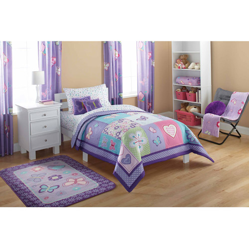 Mainstays Kids Comforter, Butterfly Patches