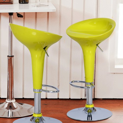 Adeco Trading Adjustable Height Swivel Bar Stool Set Of 2