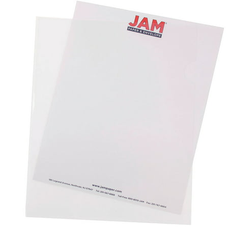 JAM Paper Plastic Sleeves, 9 x 11 1/2, Clear,