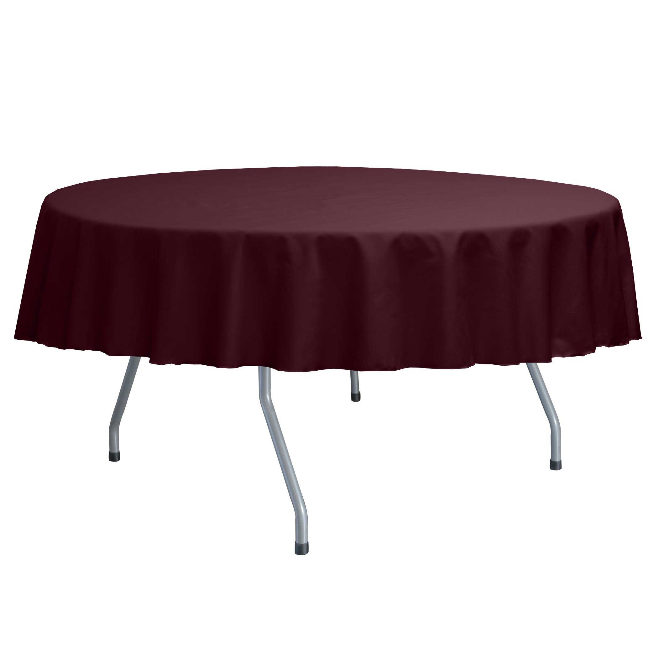 Ultimate Textile Poly Cotton Twill 60 Inch Round Tablecloth ...