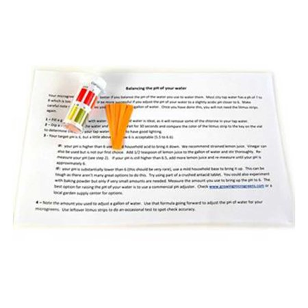 Color Test - Litmus Paper pH Test Strips - Vial of 100 - With Color Comparison Chart - Perfect for Hydroponics, Microgreens