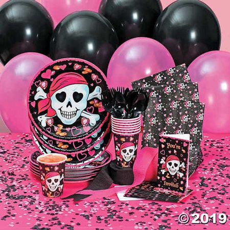 Pink girl pirate party supplies, sunny leone porn poto
