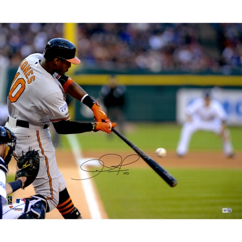 "Adam Jones Baltimore Orioles Fanatics Authentic Autographed 16"" x 20"" Hitting Shot from Behind Photograph - No Size"