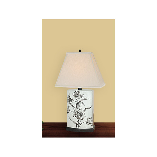 JB Hirsch Home Decor Carefree 22'' H Table Lamp with Rectangular Shade