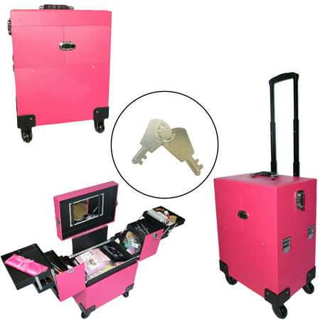 Makeup Trolley Travel Cosmetic Case