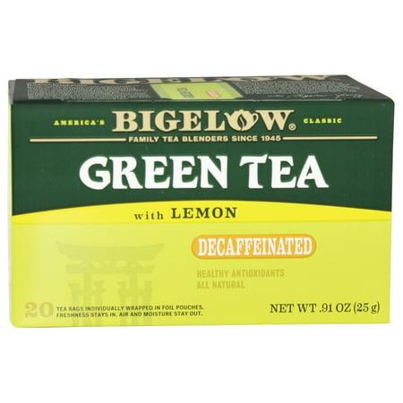 Bigelow, Green Tea with Lemon Decaffeinated, Tea Bags, 20 Ct ()