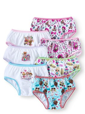 L.O.L. Surprise! Girls Underwear, 7 Pack Brief Panties (Little Girls & Big Girls)