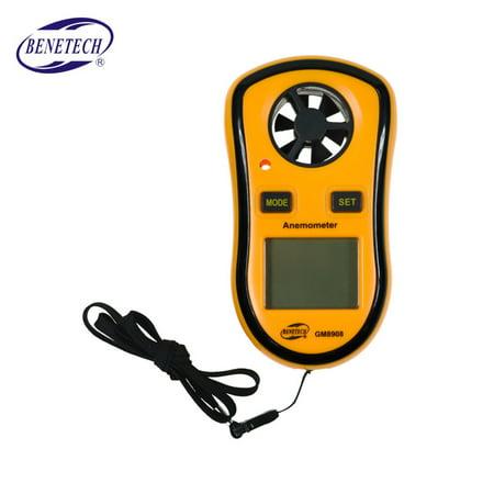 GM8908 Anemometer Thermometer Wind Speed Gauge Meter Windmeter 30m/s LCD Digital Handheld Measure Tool
