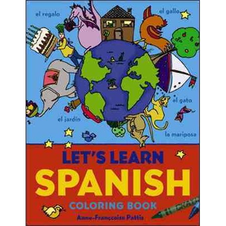 Lets Learn Spanish Coloring Book