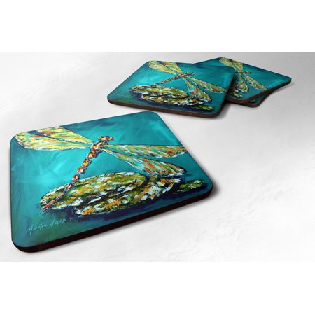 Set of 4 Insect - Dragonfly Matin Foam Coasters (Dragonfly Coaster Set)