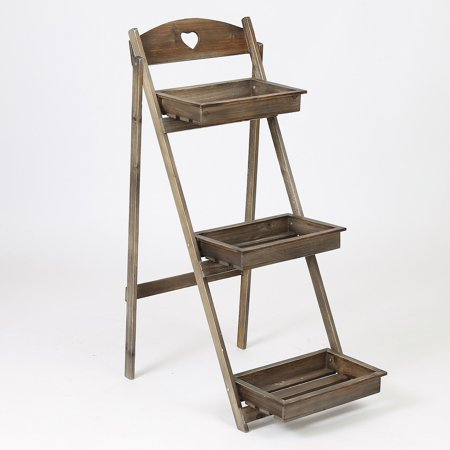 3 Tier Single Ladder Plant Stand ()