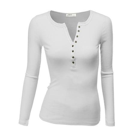 e6ff2bbf Doublju - Doublju Women's Womens Henley Shirts Round Neck Long Sleeve  Button Down Casual Blouse Tops TEAL XL - Walmart.com