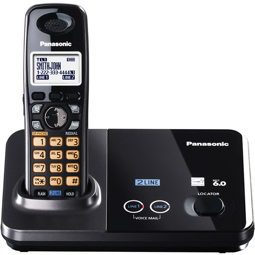 PANASONIC KX-TG9321T DECT 6.0 2-Line Expandable Digital Cordless Phone System (Single-Handset System)