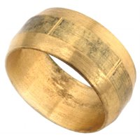 Anderson Metals 730060-03 Compression Sleeve, 400 psi, Brass