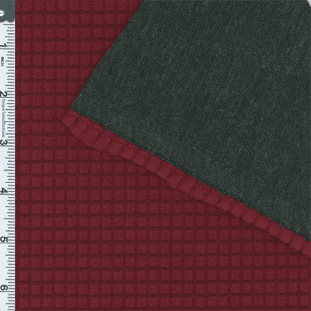 Burgundy Double Face Activewear Knit, Fabric Sold By the Yard