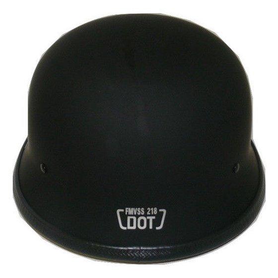 Black Motorcycle Helmet German type DOT Chopper / Motorcycle Helmet ( S -  XL )