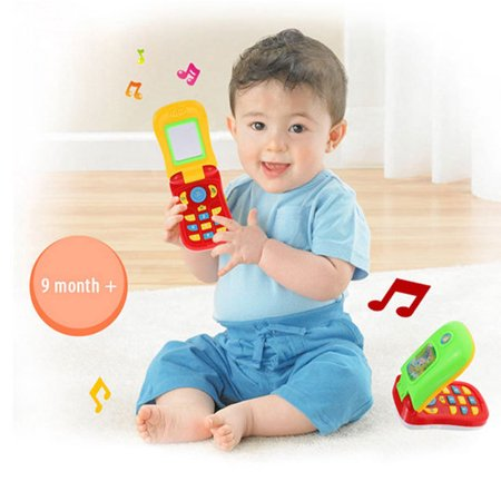 Magicfly Musical Flip Baby Mobile Phone, Singing Cell phones Toys, Best Gifts and Preschool Toys for Babies (Best Phone For Kids)