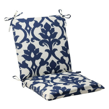 36 5 navy blue and white victorian floral outdoor patio squared chair cushion. Black Bedroom Furniture Sets. Home Design Ideas