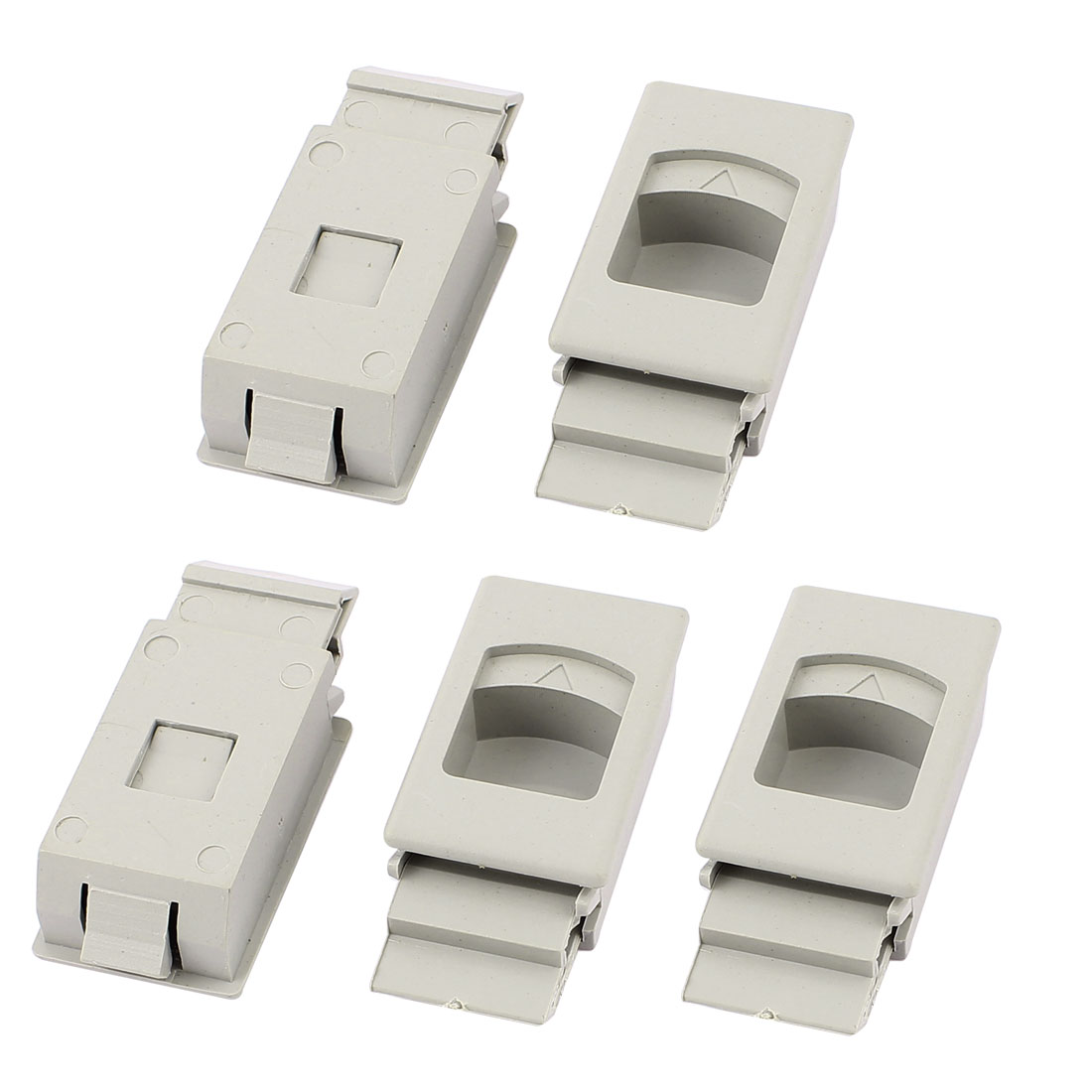 Cupboard Drawer Inside Pull Triangle Mark Plastic Latch Lock Buckle 5pcs