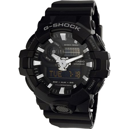 Black Rubber Watch - Casio Women's G-Shock GA700-1B Black Rubber Quartz Sport Watch