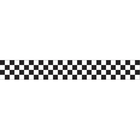 Club Pack of 12 Black and White Checkered Crepe Paper Party Streamers 30'