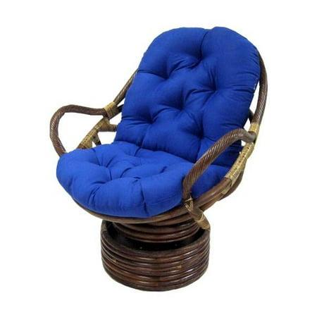 Soft Tufted Papasan Swivel Rocker Cushion Black