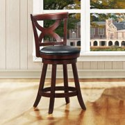 Tribecca Home Crosby Crry X-back 24-inch Swivel High Back Counter Stool by