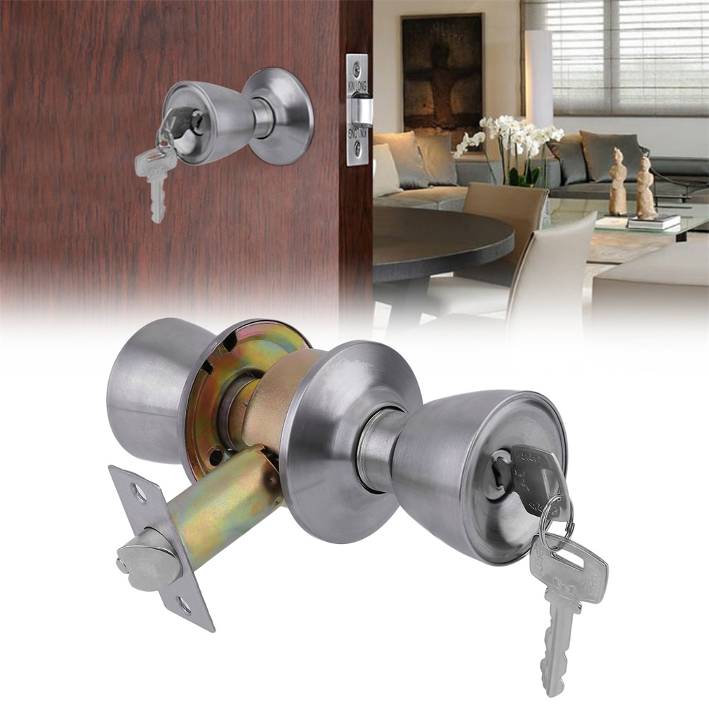 new security door lock latch sets with deadbolts door knobs locks with 3 keys - Deadbolts