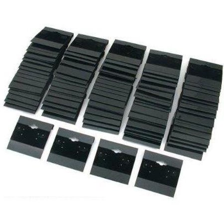 """100 New Black Flocked Earring Hang Cards - 2 Inch x 2 Inch, 2"""" x 2"""" (51x51mm) Cards By Deep Sea Fossils"""