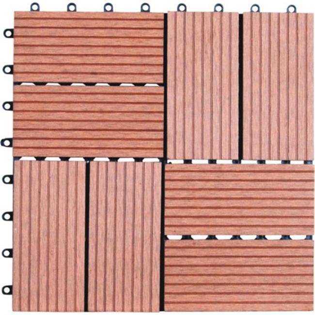 Naturesort N4-OT01 Eight Slats Bamboo Composite DIY Deck Tiles  11 tiles