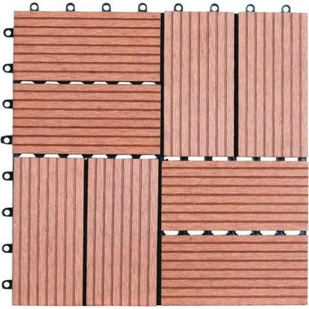 Naturesort N4-OT01 Eight Slats Bamboo Composite DIY Deck Tiles  11