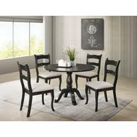 Best Master Furniture Alice Black Round 5 Piece Dining Set