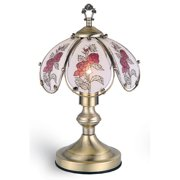 "ORE International 14.25"" Rose Touch Lamp, Antique Brass"
