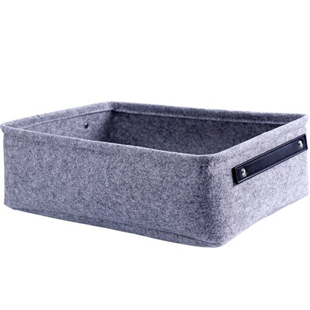 Storage Basket, Felt Storage Basket Living Room Coffee Table Storage Box Cloth Felt Storage Hamper, Gray (Felt Top Table)