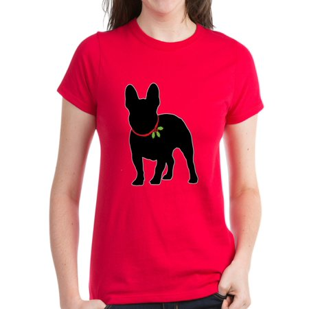 CafePress - French Bulldog Silhouette Women's Classic T Shirt - Women's Dark T-Shirt