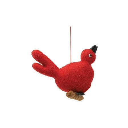 Vietri Ornaments Felt Red Bird - Festive Holiday Decoration ()
