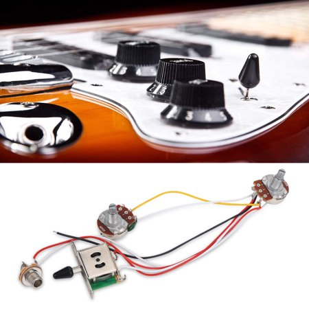Yosoo A500K Push Pull Volume Tone Shaft Switch 3 Way Wiring ... on guitar lights, guitar cable, guitar toggle switch, guitar pots, guitar battery box, guitar frame, guitar decals, aircraft wire harness, guitar tailpiece, bass guitar harness, guitar fender,