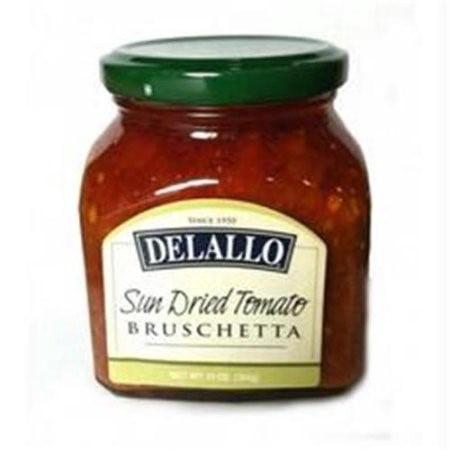 (6 Pack) Delallo Bruschetta Topping, Sun Dried Tomato, 10
