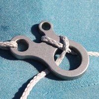 3 Holes Stainless Steel Outdoor Equipment Fast Knot Tool