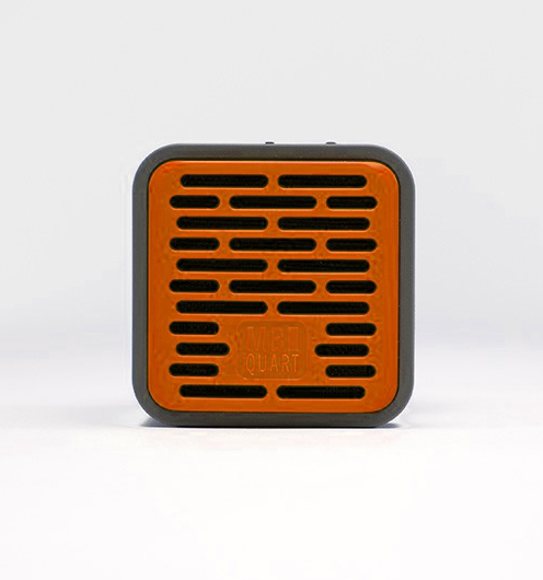 QUBOne - Orange - Portable bluetooth speaker with 5-hours music